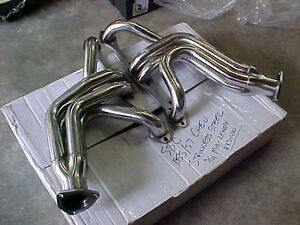 TRI 5-1955,56,57 SBC CHEVY HEADERS (only black left) long tube London Ontario image 4
