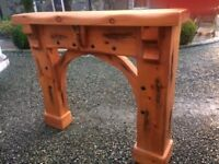 Brand New Pine Fire Surround with black metal detail