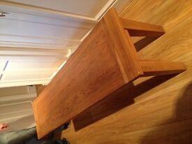 Long Oak Table / Bench