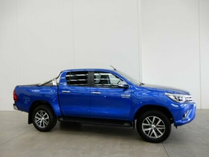 2017 Toyota Hilux GUN126R SR5 Double Cab Blue 6 Speed Sports Automatic Utility Braeside Kingston Area Preview