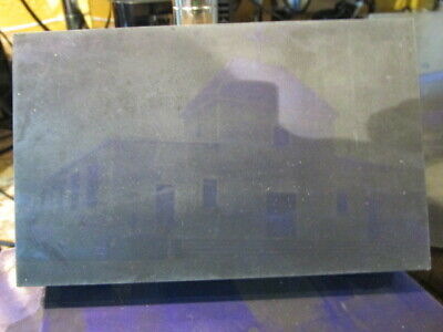 Very Old Metal Printing Plate St. Louis De France Parish Building Lowell Mass
