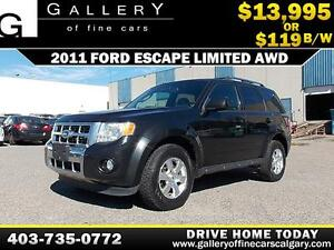 2011 Ford Escape Limited AWD $119 bi-weekly APPLY NOW DRIVE NOW