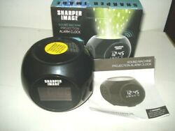Sharper Image Sound Machine Projection Alarm Clock with 6 Nature Sounds NIB TEST
