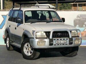 1999 Toyota Landcruiser Prado VZJ95R GXL White Manual Wagon Campbelltown Campbelltown Area Preview