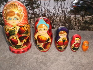 Painted Wooden Matryoshka Dolls