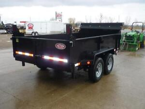 Telescopic 3 stage dump trailers in stock - 6 x 12 - 5 ton -SAVE London Ontario image 3