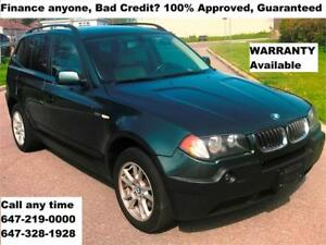 2006 BMW X3 2.5i AWD AUTO PANORAMA ROOF FINANCE 100% APPROVED