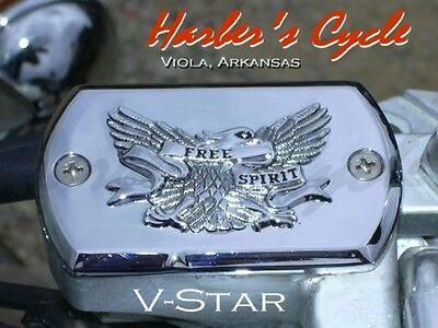 Yamaha V-Star Classic Custom 650/1100 Chrome Front Brake Master Cylinder (Yamaha V Star 650 Custom Parts Accessories)