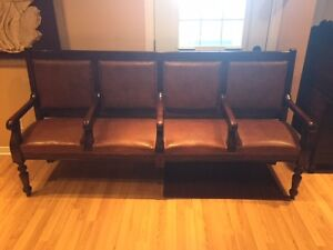 Circa 1920 Theater Seating, Couch, Hall Bench, Gorgeous!