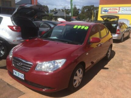 2006 Hyundai Elantra XD 05 Upgrade 2.0 HVT Red 4 Speed Automatic Sedan North Hobart Hobart City Preview