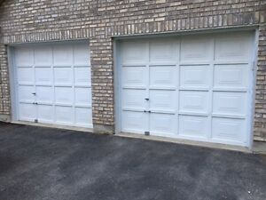 2 - 9' x 7' Wooden Garage Doors