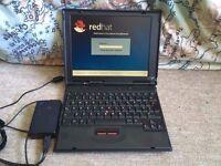 "Thinkpad notebook, 11"" screen, Running lynx redhat."