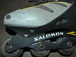 Salomon roller blades in very good conditional size 11.5 men's
