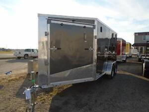"""19' ALL ALUMINUM DRIVE IN/OUT SPORT TRAILER W/ 6"""" EXTRA HEIGHT!! London Ontario image 5"""