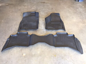 Husky Floor Liners for a 2011+ Dodge Ram 1500 Quad Cab for sale