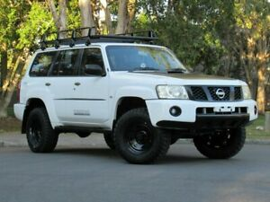 2010 Nissan Patrol GU 7 MY10 ST White 4 Speed Automatic Wagon Slacks Creek Logan Area Preview