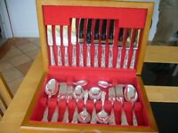 VINTAGE 44 PIECE CANTEEN CUTLERY, SMITH & SEYMOUR SHEFFIELD