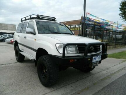 1999 Toyota Landcruiser HZJ105R GXL (4x4) White 5 Speed Manual 4x4 Wagon Williamstown North Hobsons Bay Area Preview