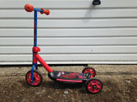 Spiderman Kids scooter with a spare wheel