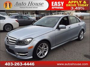 2013 MERCEDES BENZ C300 AWD, NAVI, ROOF, 90 DAYS NO PYMT