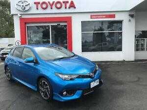 2017 Toyota Corolla ZRE182R SX S-CVT Blue 7 Speed Constant Variable Hatchback
