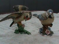 Ornamental, metal birds with necklace in 'keepsake' compartment