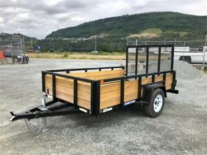 NEW 6'x10' TUBE TOP LANDSCAPE WOOD SIDE UTILITY TRAILER 2990LB