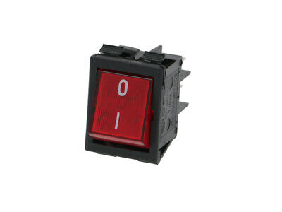 Red Bipolar Switch 16 A 250 V Espresso Machine Grinder Pizza Ovens