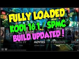 Kodi installation service Fully Loaded with the PULSE BUILD CCM. Kodi and SPMC. Movies Sports etc