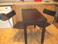 Ikea Table and 2 Ikea Folding Chairs - - £25 - -