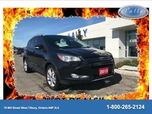 2015 Ford Escape Titanium, AWD, Moonroof, Nav!!