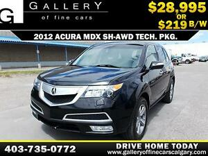 2012 Acura MDX TECH PKG AWD $219 bi-weekly APPLY NOW DRIVE NOW