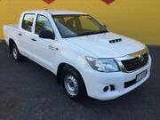 2013 Toyota Hilux KUN16R MY14 SR Double Cab 4x2 White 5 Speed Manual Utility Winnellie Darwin City Preview