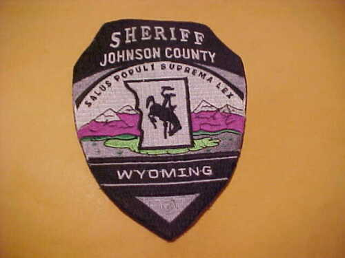 JOHNSON COUNTY WYOMING POLICE PATCH SHOULDER SIZE UNUSED NO EDGE