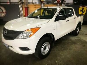 2015 Mazda BT-50 MY16 XT (4x4) White 6 Speed Manual Dual Cab Utility Fyshwick South Canberra Preview