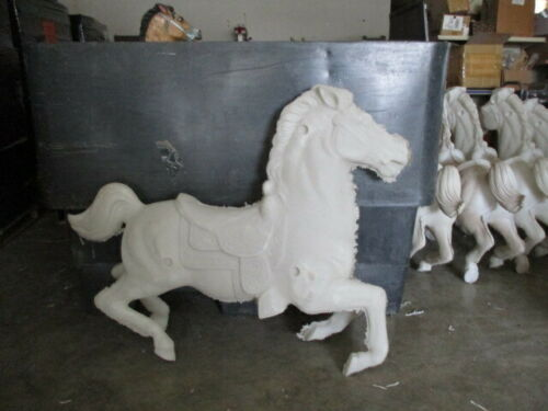 UNPAINTED Small Galloping Carousel Horse Kit