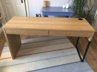 Work desk (142x50 cm) with 2 drawers and possible delivery