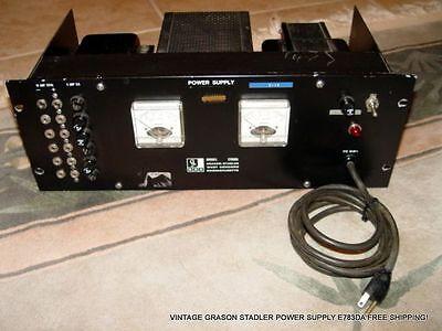 Vintage Grason Stadler Gsc Dc Power Supply E783da Free Shipping