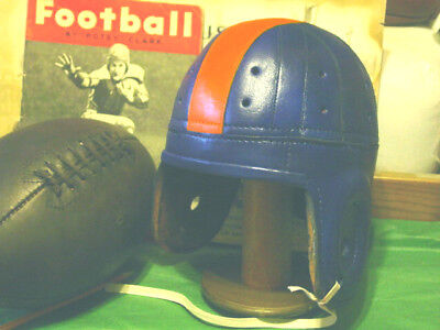 1940 Auburn Leather Football Helmet  Tigers  SEC Champs Auburn Tigers Leather Football