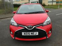TOYOTA YARIS 1.3 VVT-I ICON 5DR Manual (red) 2015