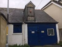 Garage/studio electric water and a gas point, 84SQ M situated across two floors