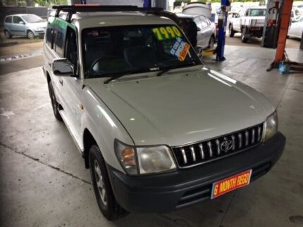 1998 Toyota Landcruiser Prado White 4 Speed Automatic Wagon Bungalow Cairns City Preview