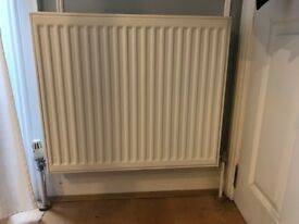3 radiators, double panel, 600mm x 600mm ea, wall mounted, in Chiswick
