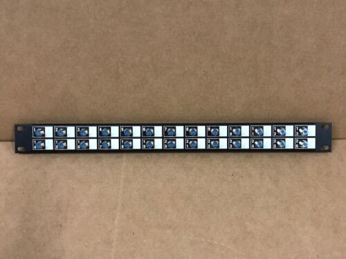 """F-81 COAX Patch Panel 19"""" 26 Port 3GHz Connector CATV NEW"""