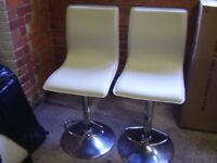 Two pump action chairs for a kitchen or breakfast bar area. Good condition, sale due to house move