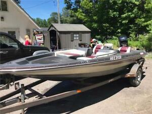 ***JUST TRADED IN***1992 16' LEGEND BASS BOAT 75HP MERCURY