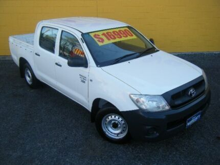 2009 Toyota Hilux TGN16R MY09 Workmate White 5 Speed Manual Dual Cab Winnellie Darwin City Preview