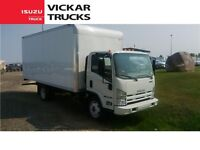 NEW Isuzu NPRHD 14500 GVWR, With 18ft Box and Pull Out Ramp, Gas