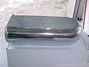 Hilborn Dual Carb Finned Polished Aluminum Hood Scoop AirCleaner London Ontario image 2