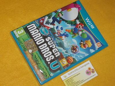 NEW SUPER MARIO BROS U Nintendo Wii u NUOVO SIGILL. UFFICIALE ITALIANO...